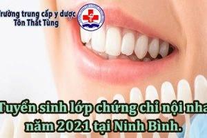 Tuyển sinh lớp chứng chỉ nội nha năm 2021 tại Ninh Bình.