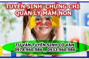 Tuyển sinh chứng chỉ quản lý mầm non uy tín năm 2021 tại Hà Nội